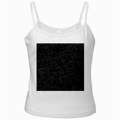 Black Rectangle Wallpaper Grey Ladies Camisoles by Amaryn4rt