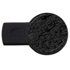 Black Rectangle Wallpaper Grey Usb Flash Drive Round (4 Gb) by Amaryn4rt