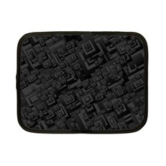 Black Rectangle Wallpaper Grey Netbook Case (small)  by Amaryn4rt