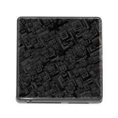 Black Rectangle Wallpaper Grey Memory Card Reader (square) by Amaryn4rt