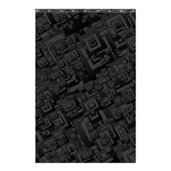 Black Rectangle Wallpaper Grey Shower Curtain 48  X 72  (small)  by Amaryn4rt