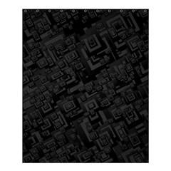 Black Rectangle Wallpaper Grey Shower Curtain 60  X 72  (medium)  by Amaryn4rt