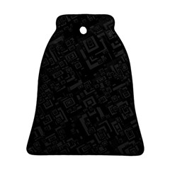 Black Rectangle Wallpaper Grey Bell Ornament (two Sides) by Amaryn4rt