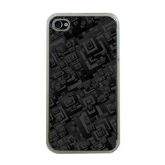 Black Rectangle Wallpaper Grey Apple Iphone 4 Case (clear) by Amaryn4rt