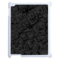 Black Rectangle Wallpaper Grey Apple Ipad 2 Case (white) by Amaryn4rt