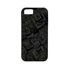 Black Rectangle Wallpaper Grey Apple Iphone 5 Classic Hardshell Case (pc+silicone) by Amaryn4rt