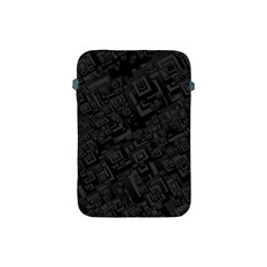 Black Rectangle Wallpaper Grey Apple Ipad Mini Protective Soft Cases by Amaryn4rt