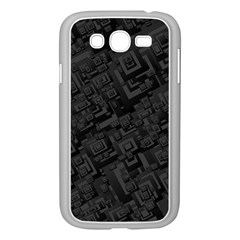 Black Rectangle Wallpaper Grey Samsung Galaxy Grand Duos I9082 Case (white) by Amaryn4rt