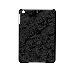 Black Rectangle Wallpaper Grey Ipad Mini 2 Hardshell Cases by Amaryn4rt