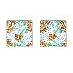 Broken Tile Texture Background Cufflinks (square) by Amaryn4rt