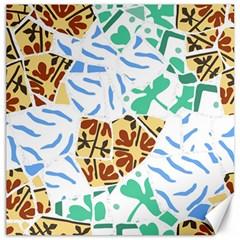 Broken Tile Texture Background Canvas 16  X 16