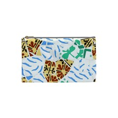 Broken Tile Texture Background Cosmetic Bag (small)  by Amaryn4rt