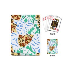 Broken Tile Texture Background Playing Cards (mini)  by Amaryn4rt