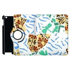 Broken Tile Texture Background Apple Ipad 2 Flip 360 Case by Amaryn4rt