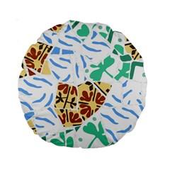 Broken Tile Texture Background Standard 15  Premium Round Cushions by Amaryn4rt