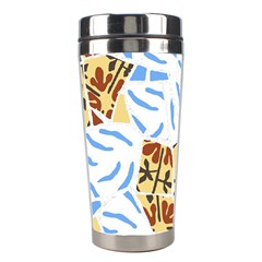 Broken Tile Texture Background Stainless Steel Travel Tumblers by Amaryn4rt