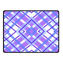 Geometric Plaid Pale Purple Blue Fleece Blanket (small) by Amaryn4rt