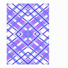 Geometric Plaid Pale Purple Blue Small Garden Flag (two Sides) by Amaryn4rt