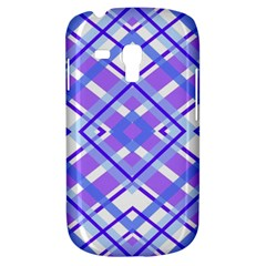 Geometric Plaid Pale Purple Blue Galaxy S3 Mini by Amaryn4rt
