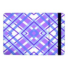 Geometric Plaid Pale Purple Blue Samsung Galaxy Tab Pro 10 1  Flip Case by Amaryn4rt
