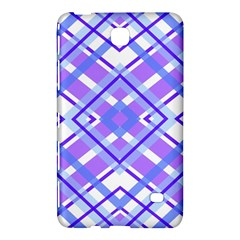 Geometric Plaid Pale Purple Blue Samsung Galaxy Tab 4 (7 ) Hardshell Case  by Amaryn4rt