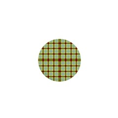 Geometric Tartan Pattern Square 1  Mini Buttons by Amaryn4rt