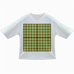 Geometric Tartan Pattern Square Infant/toddler T Shirts