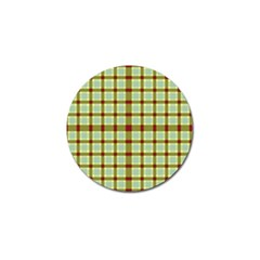 Geometric Tartan Pattern Square Golf Ball Marker (10 Pack) by Amaryn4rt