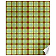 Geometric Tartan Pattern Square Canvas 16  X 20   by Amaryn4rt