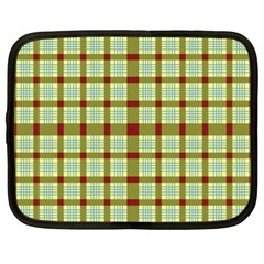 Geometric Tartan Pattern Square Netbook Case (xxl)  by Amaryn4rt
