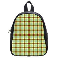 Geometric Tartan Pattern Square School Bags (small)  by Amaryn4rt