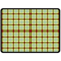 Geometric Tartan Pattern Square Fleece Blanket (large)  by Amaryn4rt