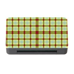 Geometric Tartan Pattern Square Memory Card Reader With Cf by Amaryn4rt