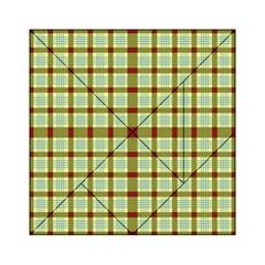 Geometric Tartan Pattern Square Acrylic Tangram Puzzle (6  X 6 ) by Amaryn4rt
