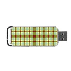 Geometric Tartan Pattern Square Portable Usb Flash (one Side) by Amaryn4rt