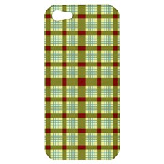 Geometric Tartan Pattern Square Apple Iphone 5 Hardshell Case by Amaryn4rt