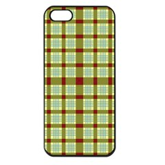 Geometric Tartan Pattern Square Apple Iphone 5 Seamless Case (black) by Amaryn4rt