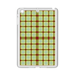 Geometric Tartan Pattern Square Ipad Mini 2 Enamel Coated Cases by Amaryn4rt
