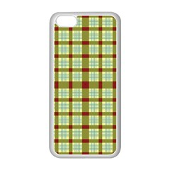 Geometric Tartan Pattern Square Apple Iphone 5c Seamless Case (white) by Amaryn4rt