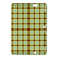 Geometric Tartan Pattern Square Kindle Fire Hdx 8 9  Hardshell Case by Amaryn4rt