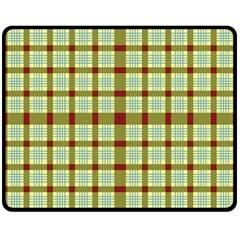 Geometric Tartan Pattern Square Double Sided Fleece Blanket (medium)  by Amaryn4rt
