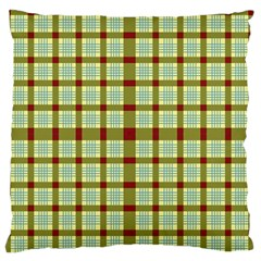 Geometric Tartan Pattern Square Standard Flano Cushion Case (two Sides) by Amaryn4rt