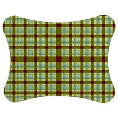 Geometric Tartan Pattern Square Jigsaw Puzzle Photo Stand (bow) by Amaryn4rt