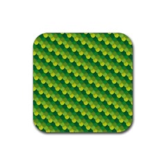 Dragon Scale Scales Pattern Rubber Coaster (square)  by Amaryn4rt