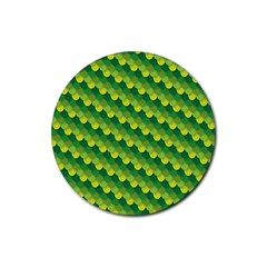 Dragon Scale Scales Pattern Rubber Round Coaster (4 Pack)