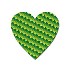 Dragon Scale Scales Pattern Heart Magnet by Amaryn4rt