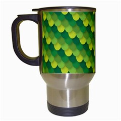 Dragon Scale Scales Pattern Travel Mugs (white) by Amaryn4rt