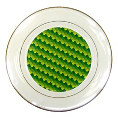 Dragon Scale Scales Pattern Porcelain Plates by Amaryn4rt