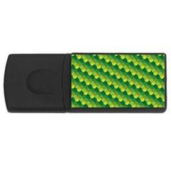 Dragon Scale Scales Pattern Usb Flash Drive Rectangular (4 Gb) by Amaryn4rt