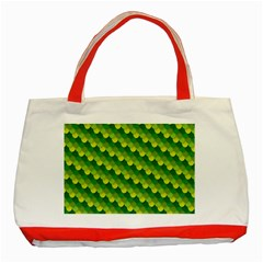 Dragon Scale Scales Pattern Classic Tote Bag (red) by Amaryn4rt